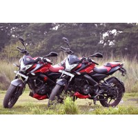 Motor bikes at different angles