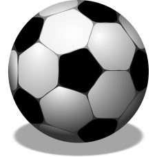 Vector graphics of football