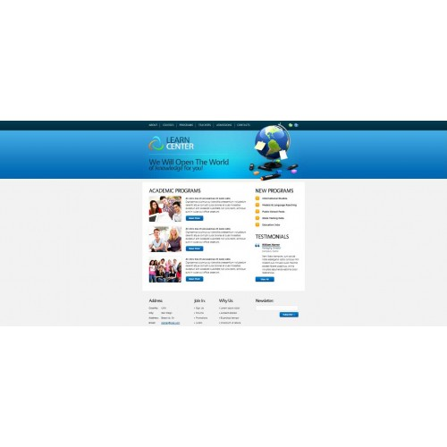 Web Theme/Template #54