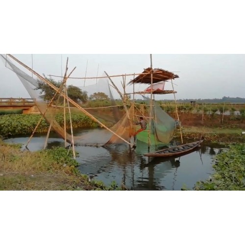 Fishing in Indian rural area