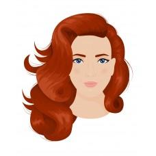 Illustration of Girl Head