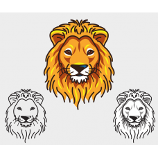 Lion's Head Vector